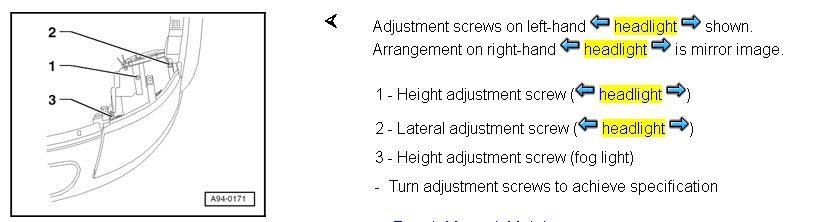 The Audi Tt Forum View Topic Headlamp Main Beam Adjustment